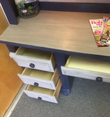 Broyhill Desk w/Light & Bookcase & Matching Desk Chair
