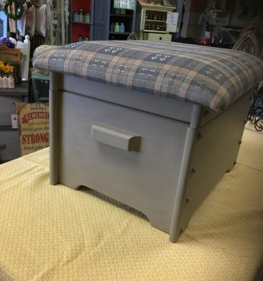 Footstool w/Storage Seat