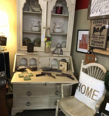 Burl Double Secretary Desk & Chair