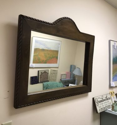 Large Brown Mirror