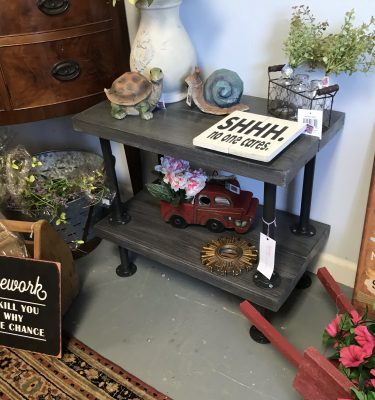 Industrial-Style End Table
