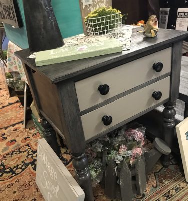 Gray & Black End Table