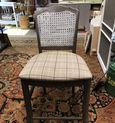 Cane Back Counter Chair