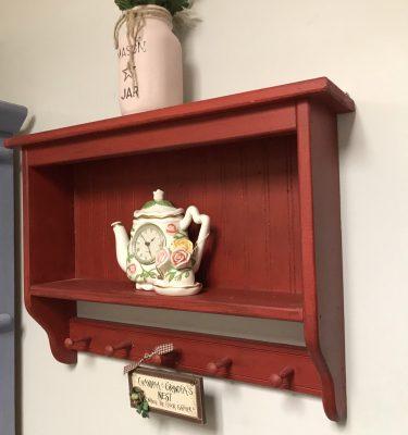 Red Wall 2-Shelf Unit