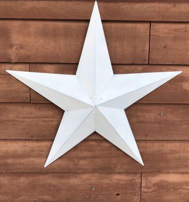 White Metal Barn Star