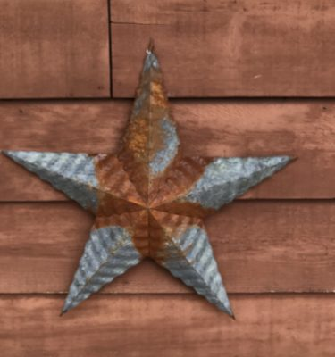 Metal Rusty Barn Star