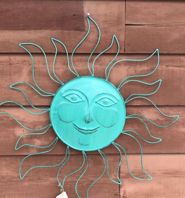 Metal Sun Decor