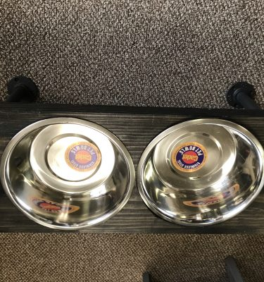 Wall Mounted Industrial-Style Pet Bowls