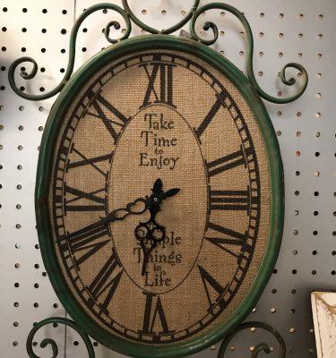 Green & Canvas Wall Clock