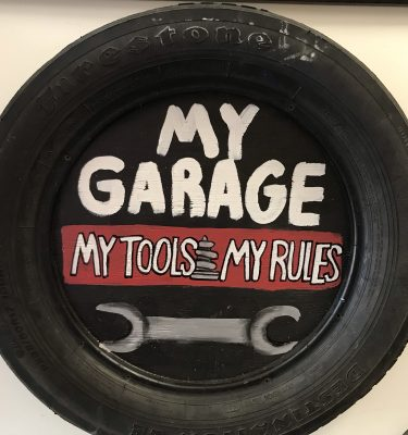 Tire Garage Decor