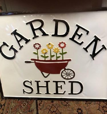 Metal Garden Shed Sign