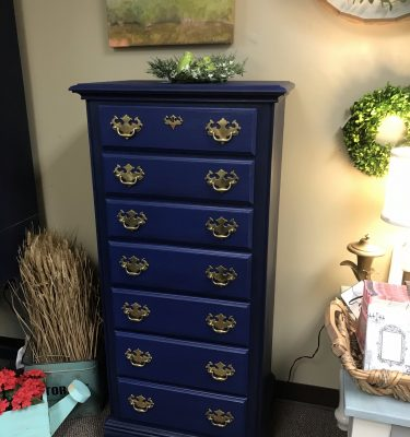 Navy & Black La-Z-Boy 7-Drawer Dresser