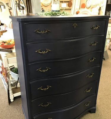 Navy Blue 6-Drawer Dresser