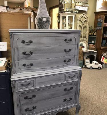 Gray & Black 6-Drawer Vintage Homer Bros. Dresser