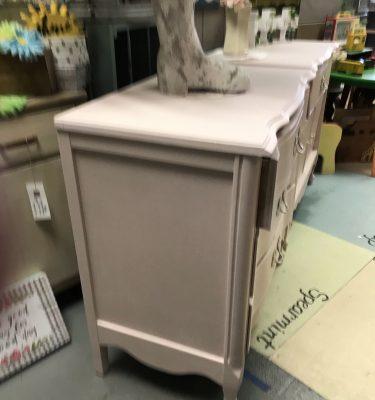 Light Pink Bassett 3-Drawer French Provincial-Style Dresser*