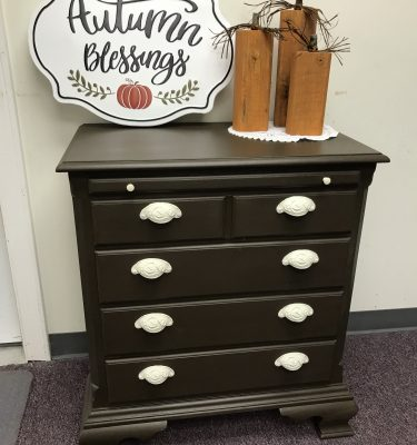 Brown 4-Drawer Thomasville Dresser with Pull-Out Shelf